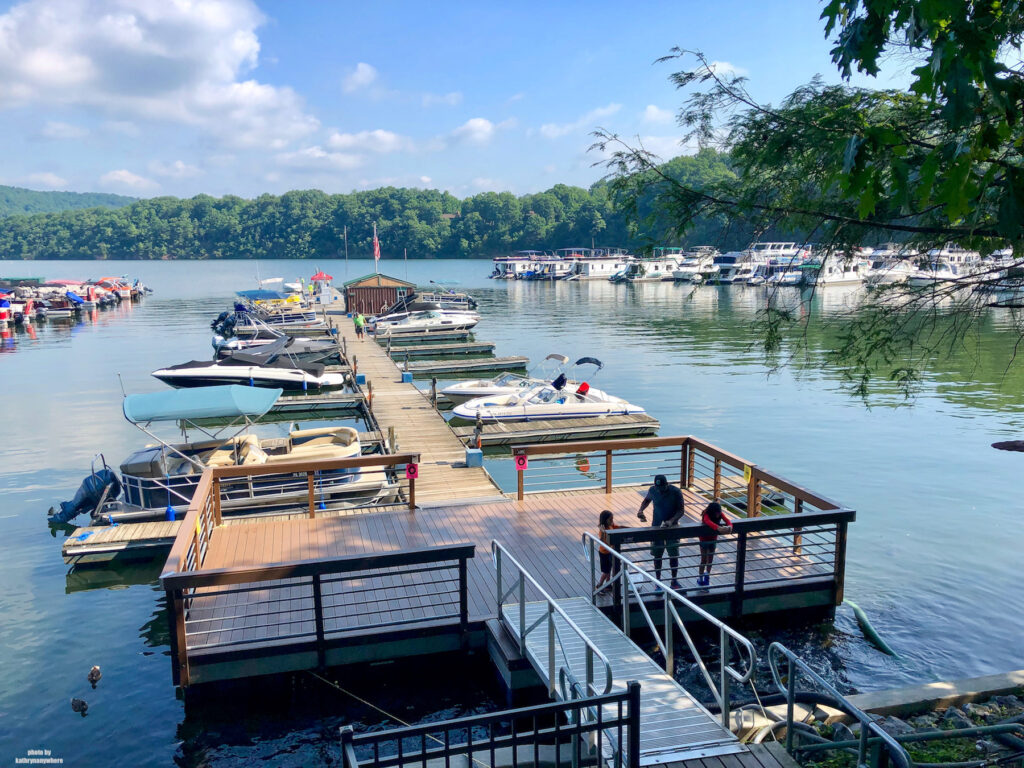 part of the marina at Lake Raystown Resort where you can feed the ducks and the carp
