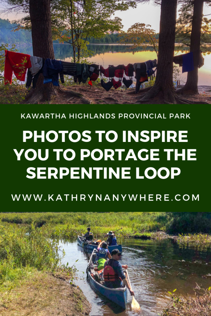 Photos to inspire you to canoe portage the Serpentine Loop in Kawartha Highlands Provincial Park, an provincial park in Southern Ontario. Canoe portage with friends, here are 20 photos to inspire you #FindYourselfHere #NoFilterPtbo #ThisisPtbo #Ptbo #theKawarthas