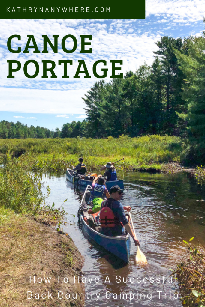 Canoe portage with friends, how to have a good trip when you all come back alive #canada #paddling #canoeing #ontario #canoeportage #canoeing #camping #ontarioparks #backcountrycamping #outdoors #kawarthahighlands
