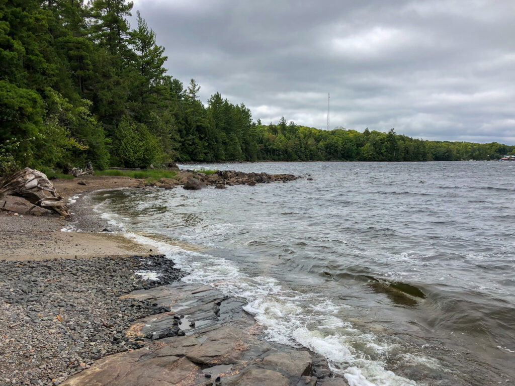 We launched for Serpentine Lake Loop at Anstruther Lake, Rd Access Point 5 in Kawartha Highlands Provincial Park.