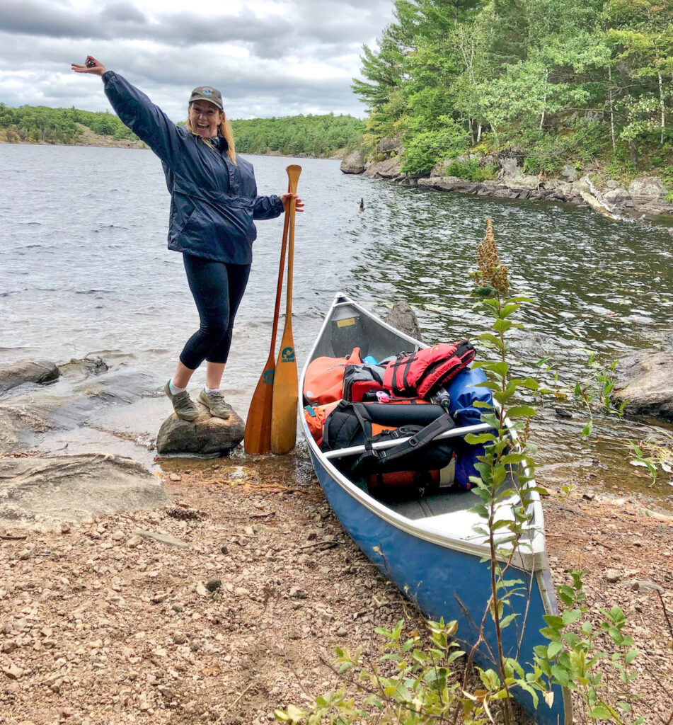 KathrynAnywhere, the author happy be to on a canoe portage with friends