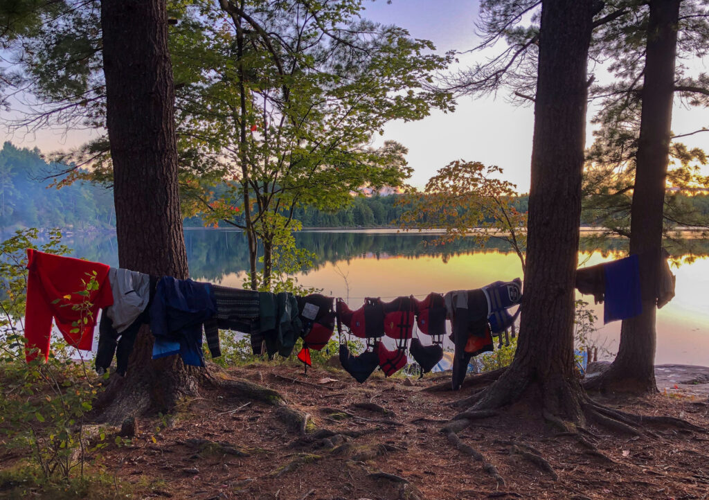 magic hour on North Rathbun Lake from our camp site in Kawartha Highland Provincial Park