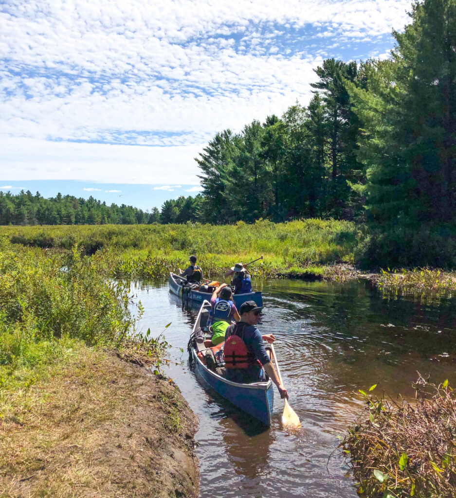 On the Serpentine Loop portage in Kawartha Highlands Provincial Park