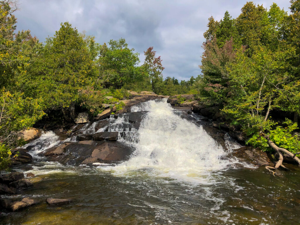 We paddled to High Falls on Eels Creek and this was our amazing view