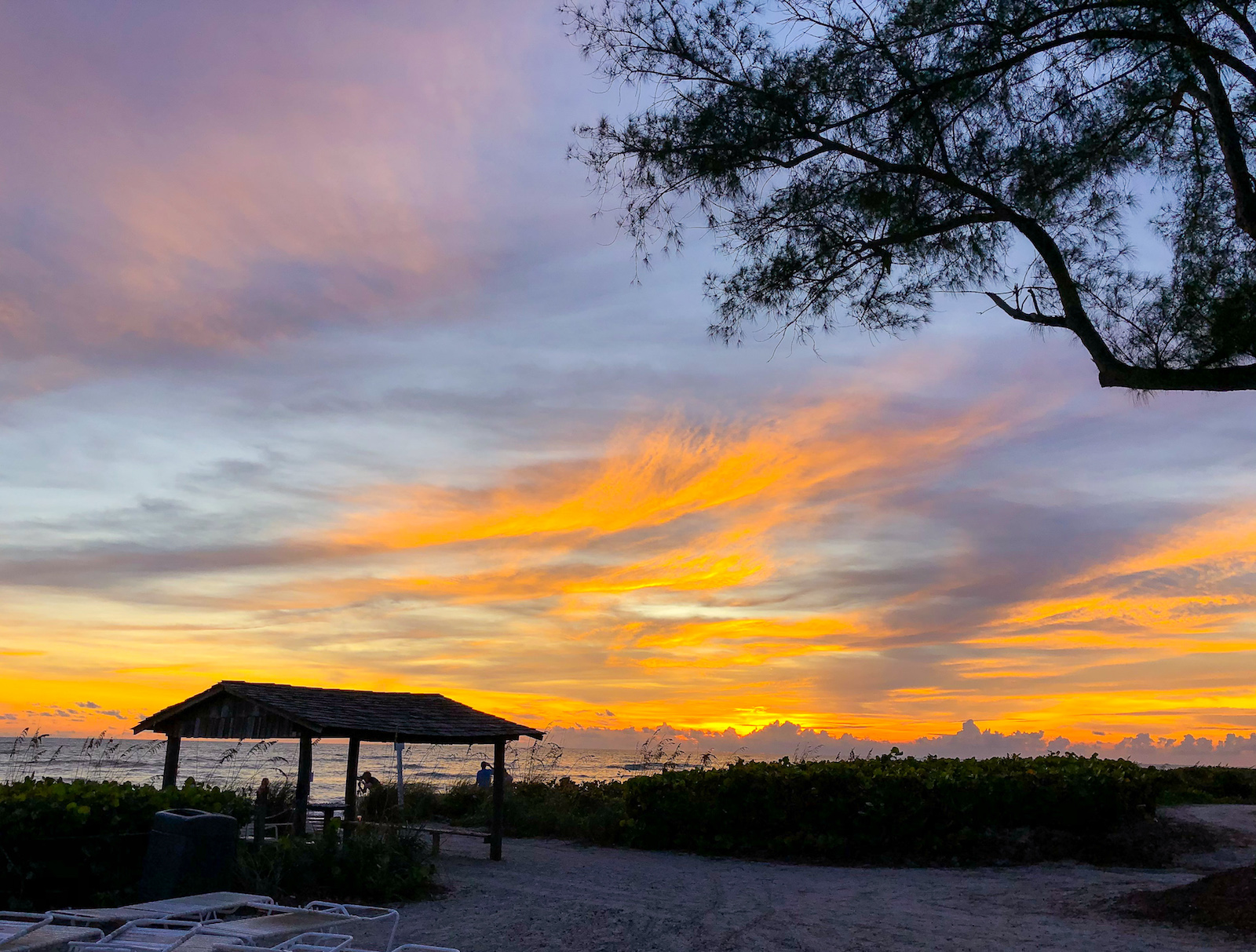Sunset on Sanibel Island. Not practising the art of escapism here.