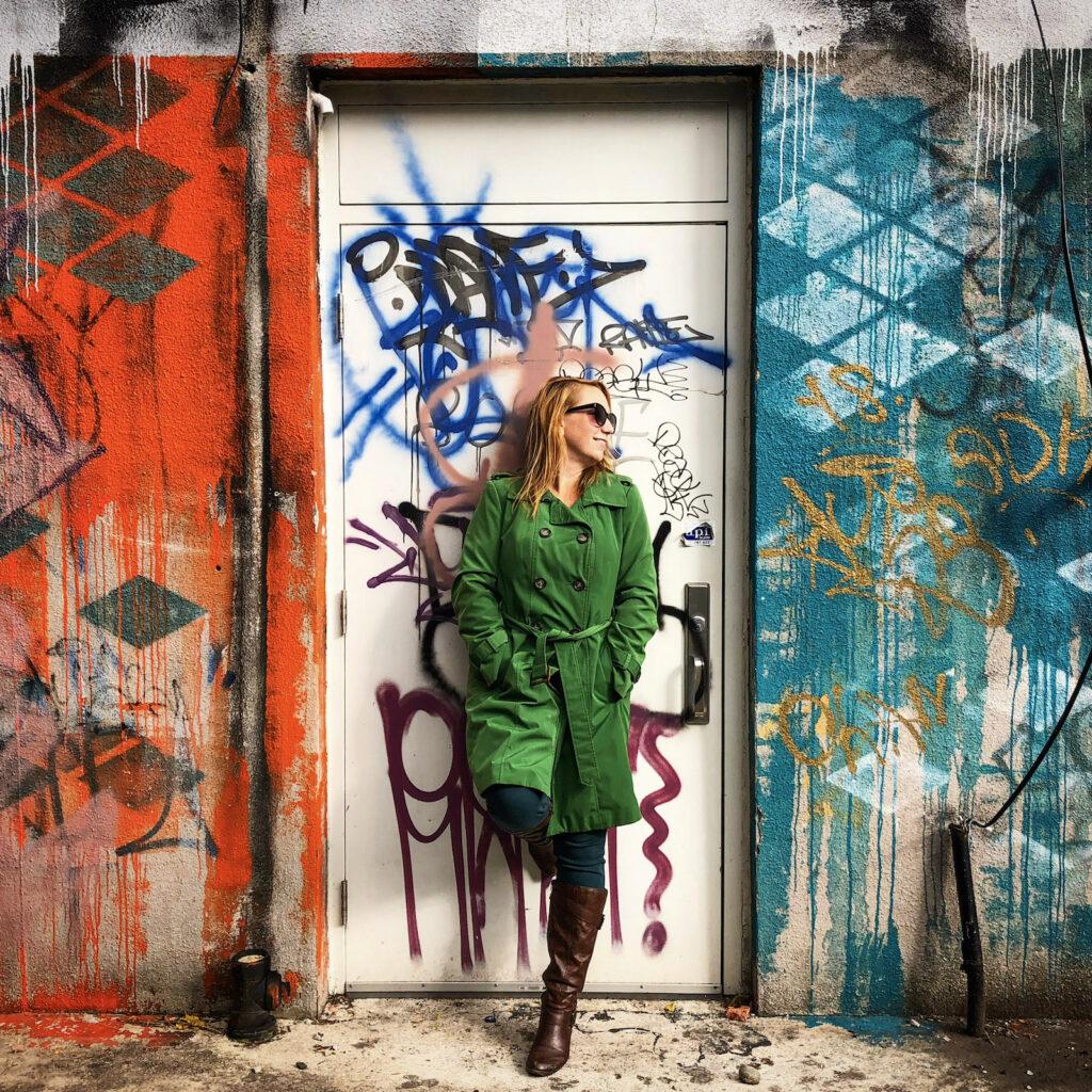 Me, posing as street art in Windsor, Ontario