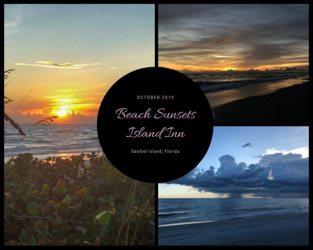 Sunsets on the beach from Island Inn on Sanibel Island