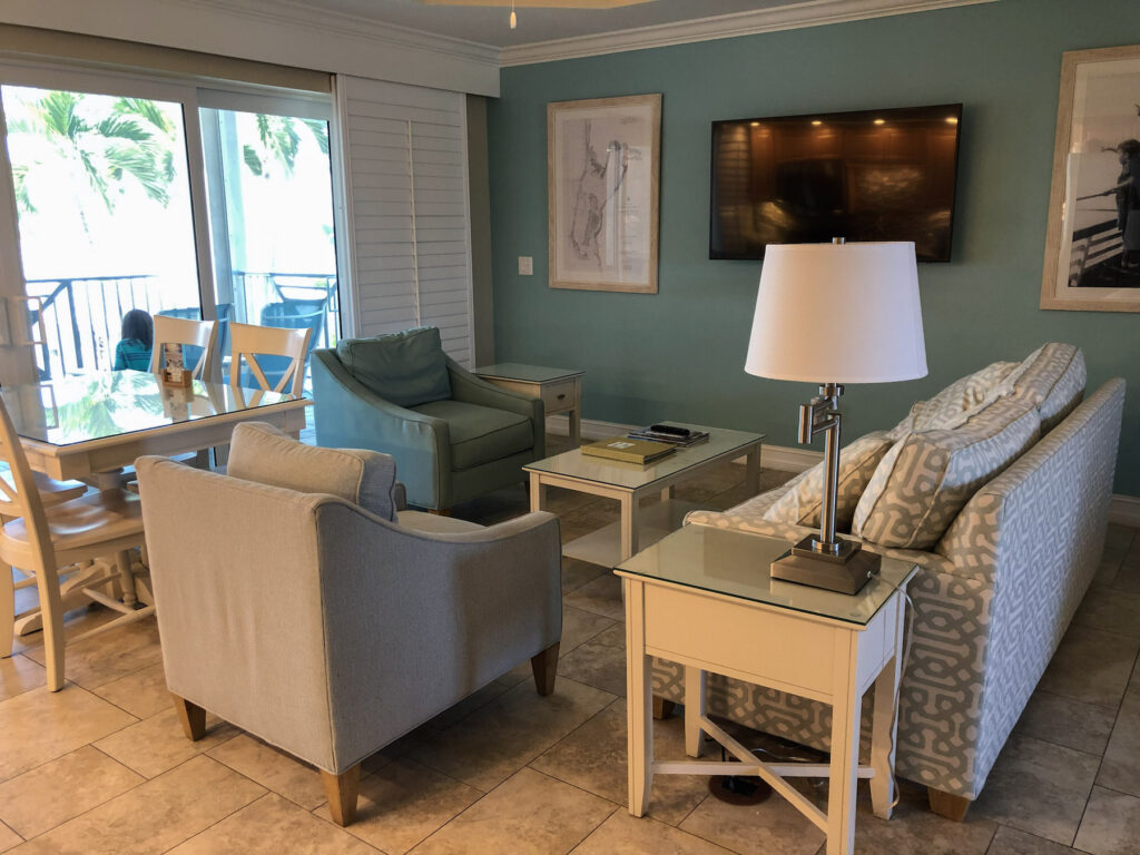 Island Inn on Sanibel Island Matthews Lodge Gulfview Luxury Suite Living/Dining Room