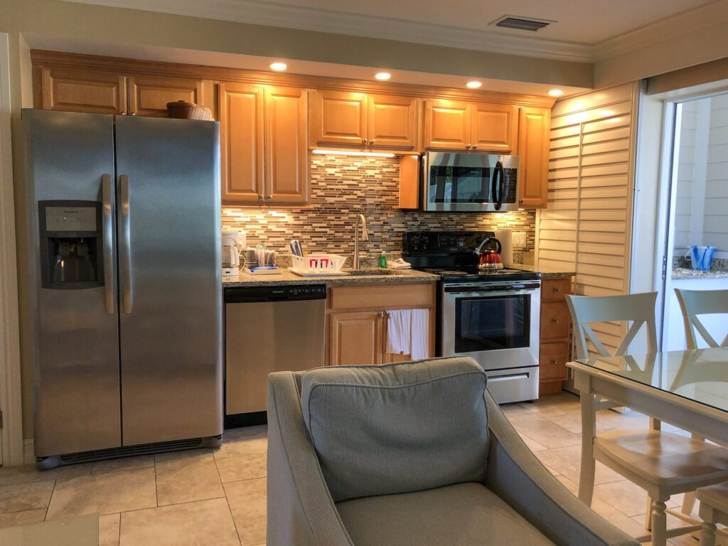 Island Inn kitchen in our Matthews Lodge Gulfview Luxury Suite