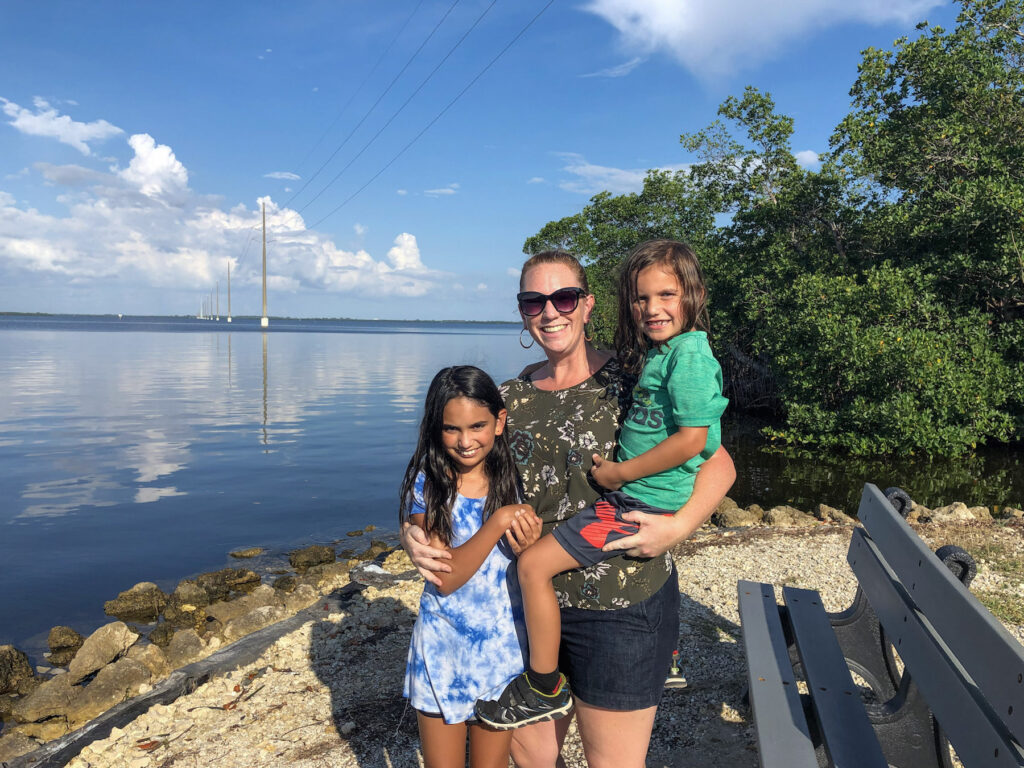 KathrynAnywhere and her kids at the Ding Darling Wildlife Refuge