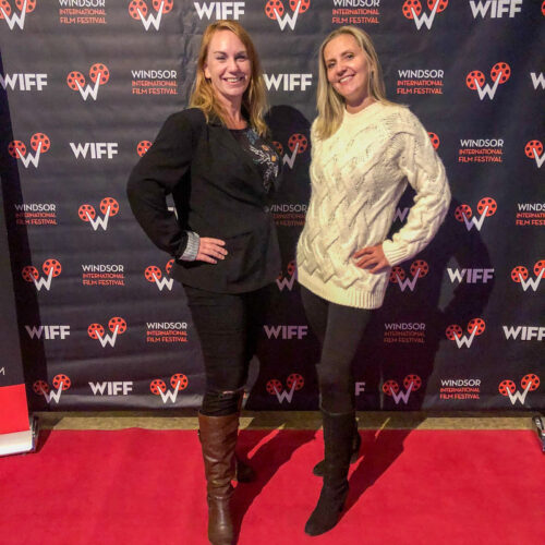 My friend Kasia Writes and I at the opening party of the Windsor Film Festival in Windsor, Ontario On November 1, 2019
