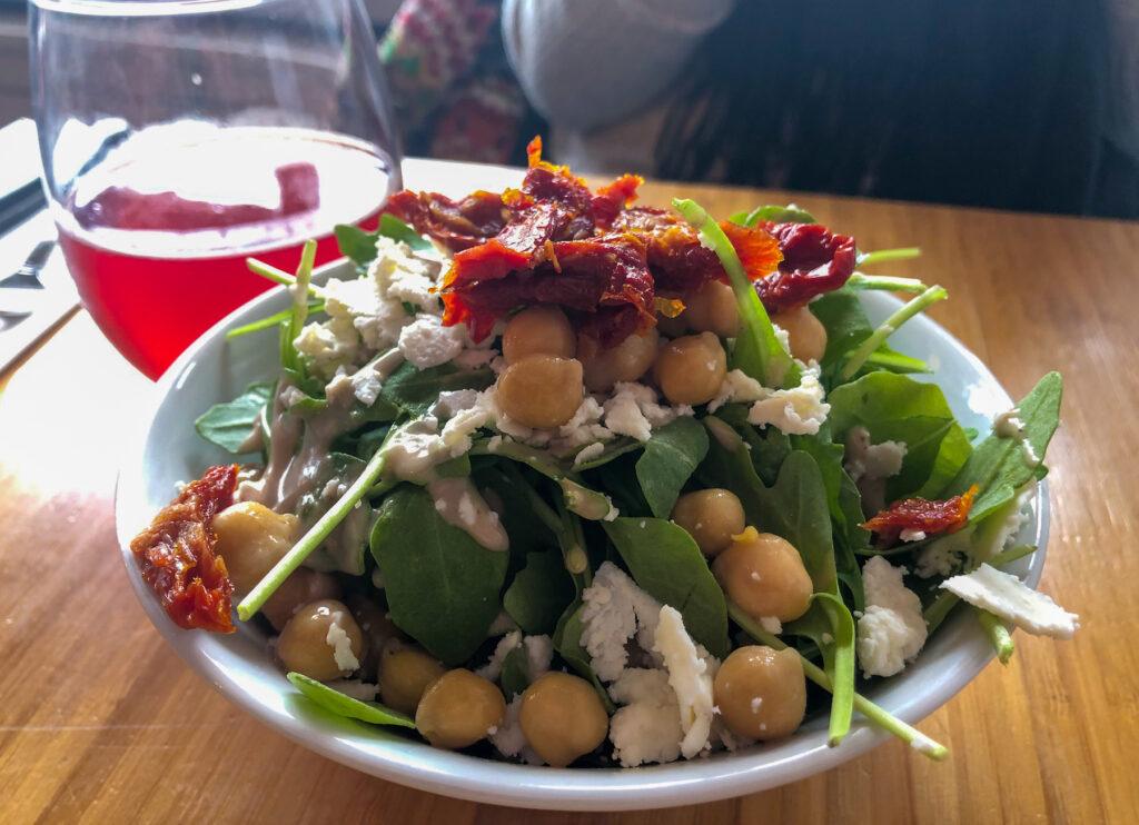 The salad Kasia had at Break Meats Bread.