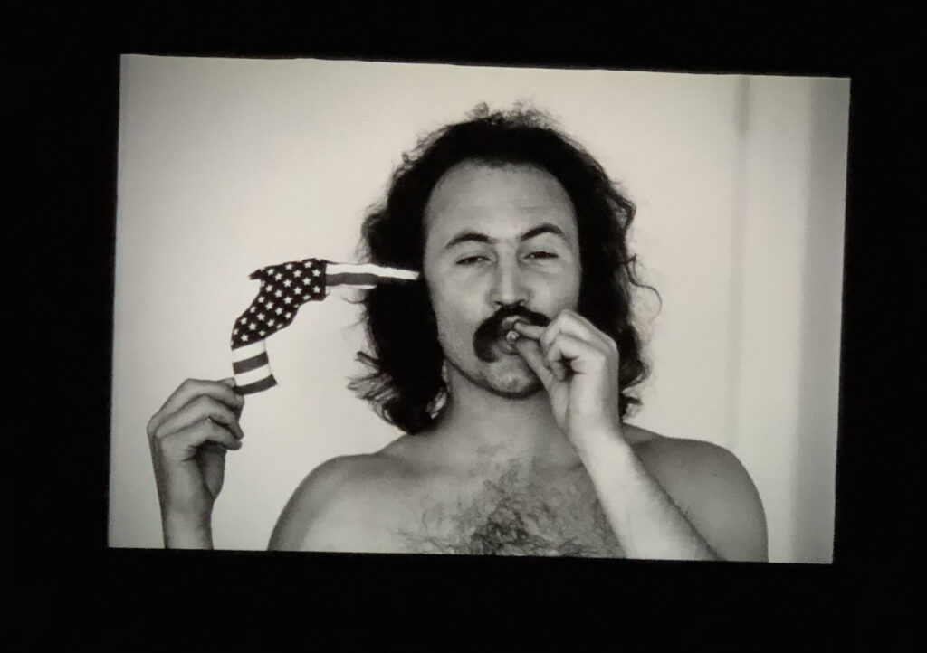 Frame on screen from David Crosby; Remember My Name, screening at Windsor Film Festival