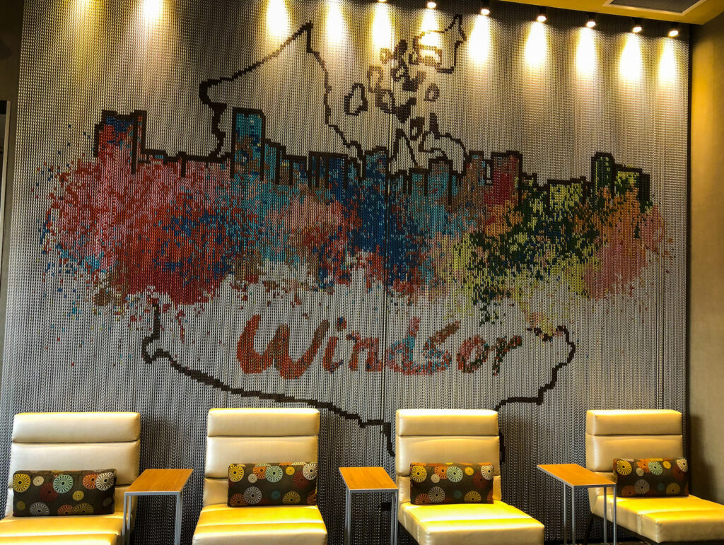 Windsor marquee artwork as seen in the lobby of the Marriot Towneplace Suites, Windsor