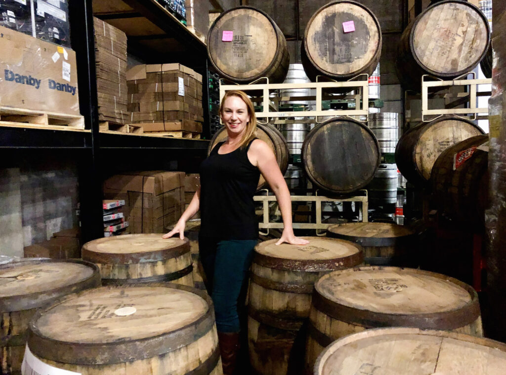 I'm living my best life in Walkerville Brewery, between barrels of stout.