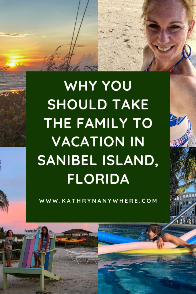 Why you should take a family vacation on Sanibel Island. Enjoy sunsets, shelling, abundant wildlife and birding, great ice cream, and more! #sanibelisland #floridavacation #southwestflorida #visitflorida #nationalwildliferefuge #periwinklepark #sanibel #shells #famiytravel #familyfriendly #familyespaces