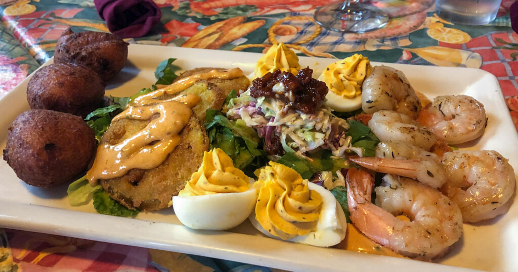 Sampler plate at Dick and Jenny's on Grand Island, NY