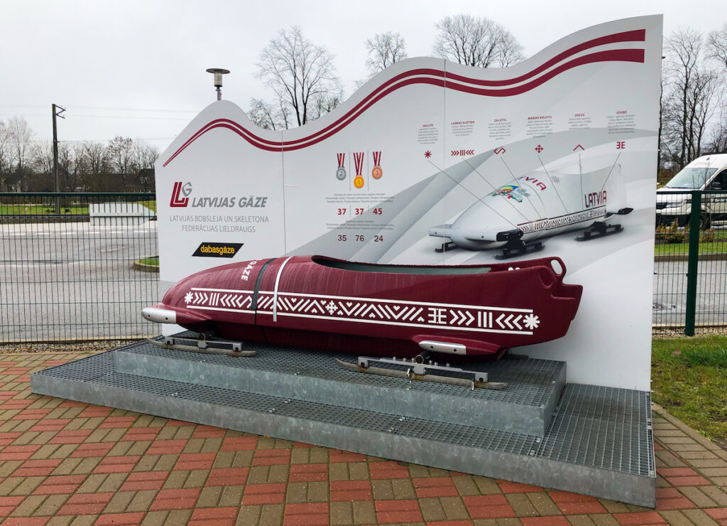 World class bobsledding and luge track in Sigulda, Latvia