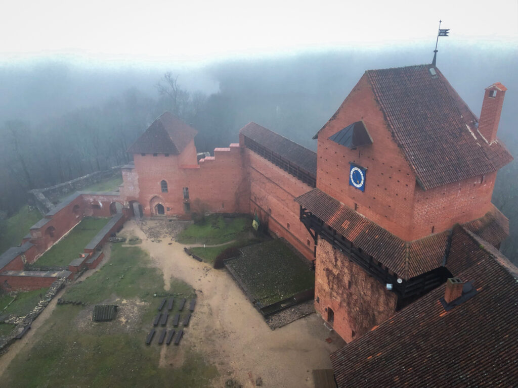 The Turaida Museum from the Tower, just outside of Sigulda, Latvia.