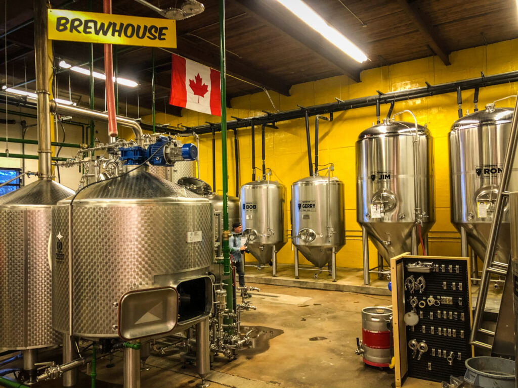 Where all the magic happens in All Or Nothing Brewhouse in Oshawa. This is the fermentation room. All or Nothing Brewhouse is one of three Durham Region Breweries you need to know about now.