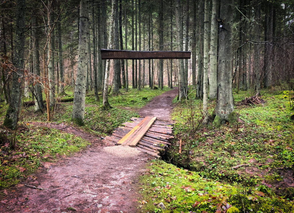 Entrance to Cecīļi Nature Trail in Gauja National Park