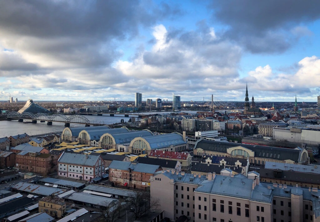 view of Riga from the science building top floor
