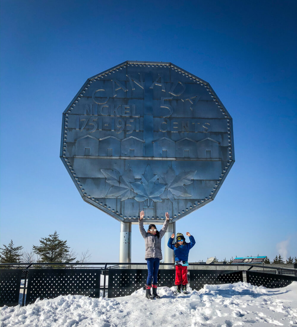 Sudbury Winter Activities - Big Nickel at Dynamic Earth in Sudbury, Ontario with my kids