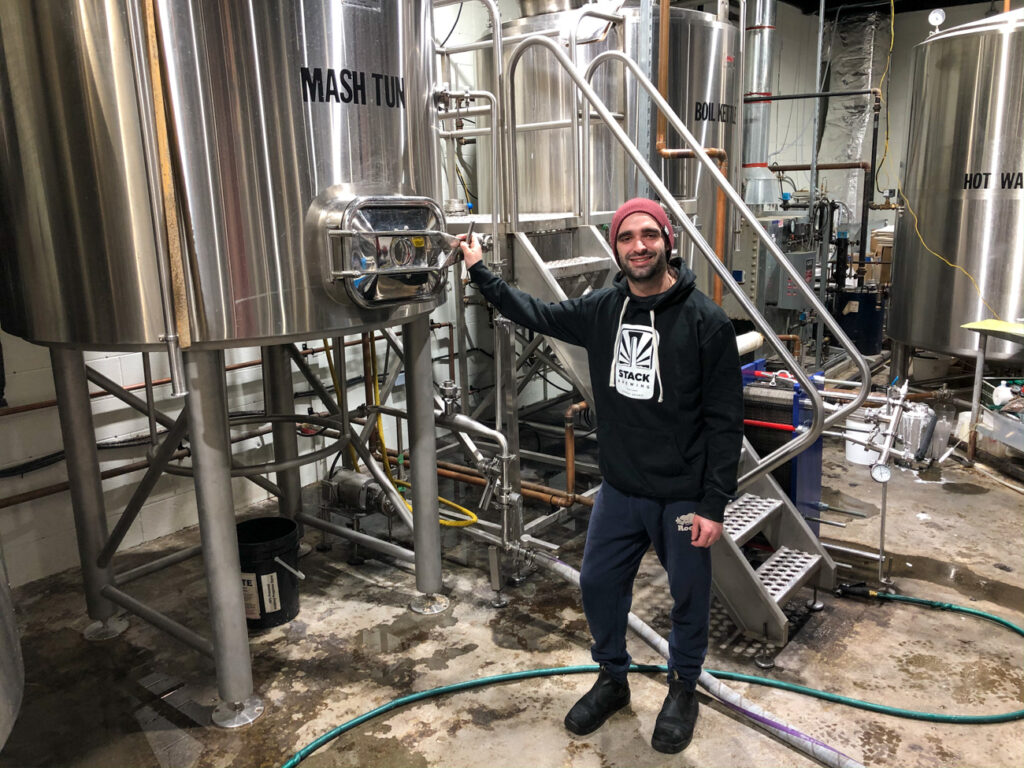 Brewmaster Brenden at Stack Brewhouse in Sudbury