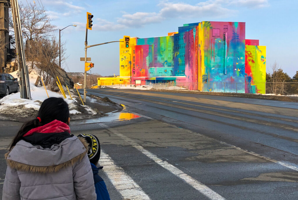 The old St Joseph's hospital site on Paris Street in Sudbury, is home of the largest mural in Canadian history.
