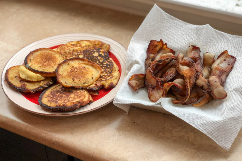 pancakes cooked in bacon grease from TruLocal