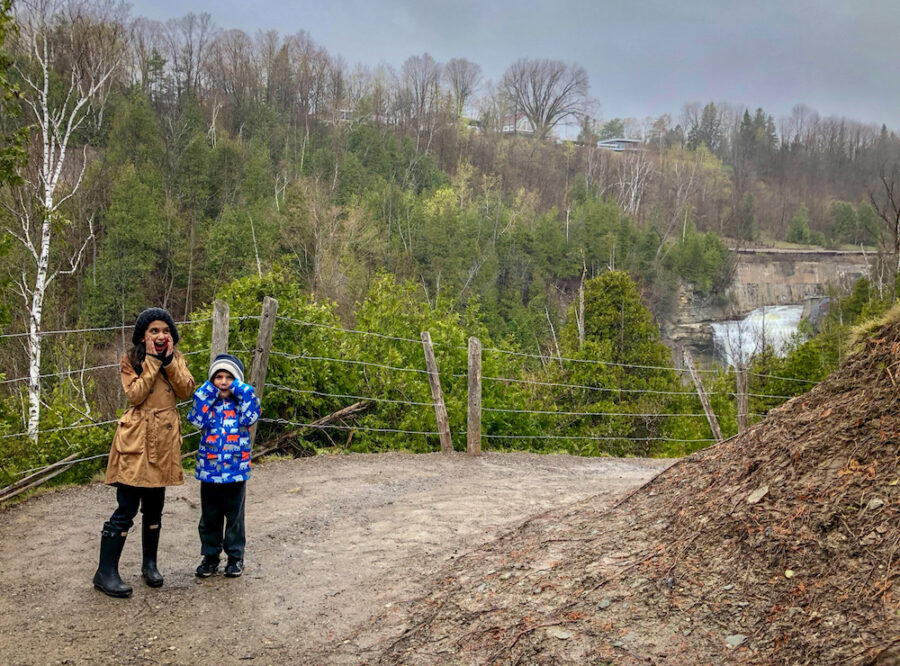 kids at Forks of The Credit Provincial Park best hiking trails for families in Southern Ontario
