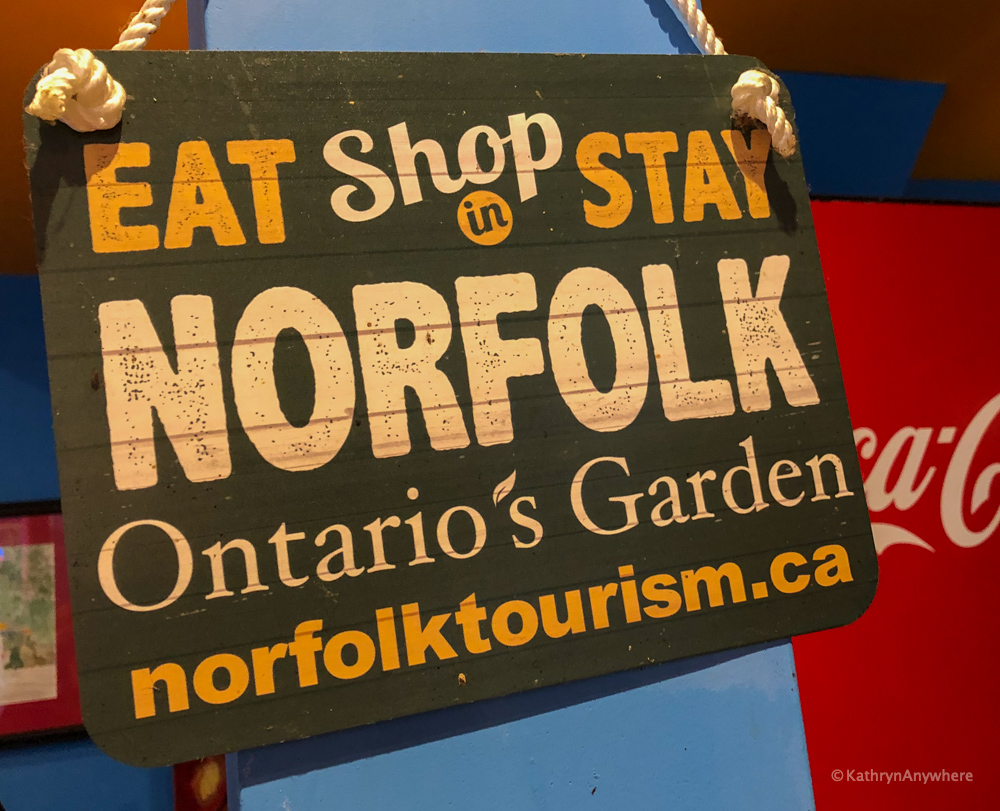 Eat, Shop and Stay in Norfolk sign