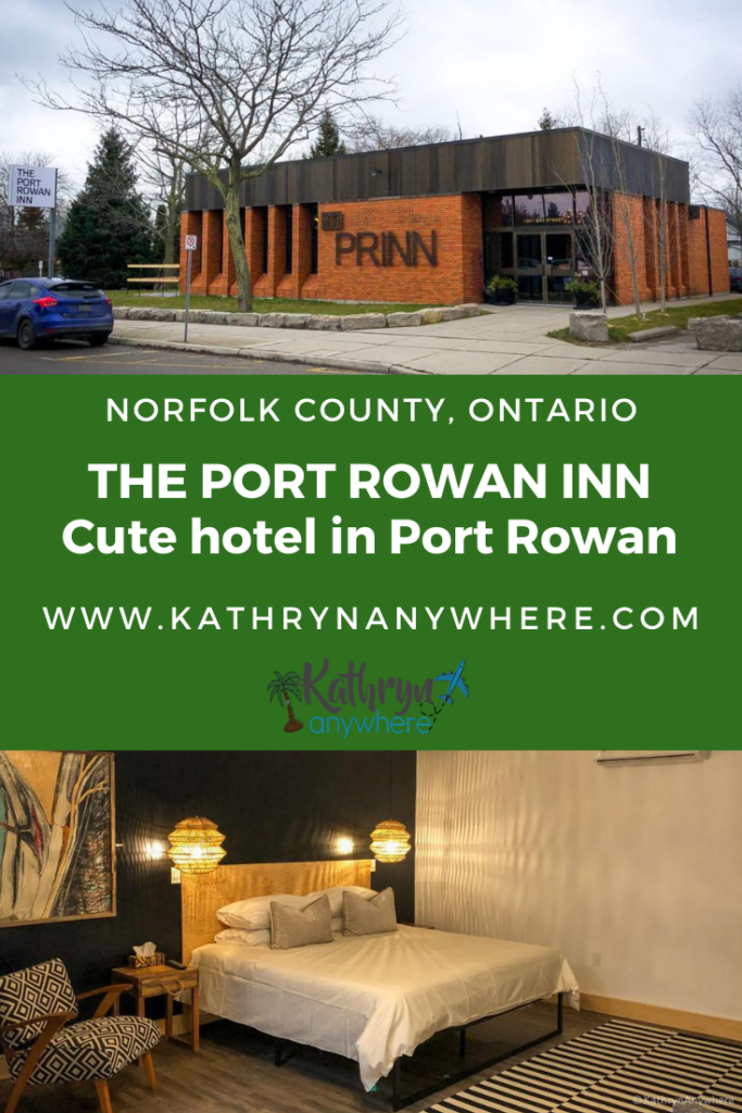 Boutique Hotel - The Port Rowan Inn on Bay Street in Port Rowan, Ontario in Norfolk County. There are four cozy guest rooms in this converted bank. They are the signature Anchor Suite, The Bay Room, The Dockside Room and The Rowan Room. The names a nod to the nautical nature of Port Rowan being on Lake Erie.