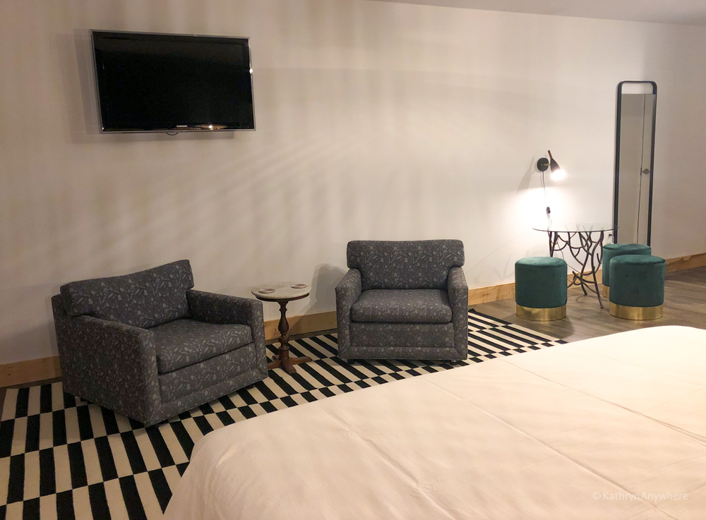 Reverse shot of the anchor suite in Port Rowan inn