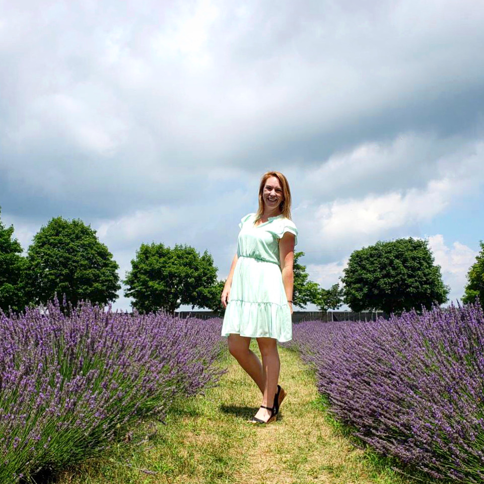 Bonnieheath Lavender field with me in it. Photo taken by Kevin Wagar