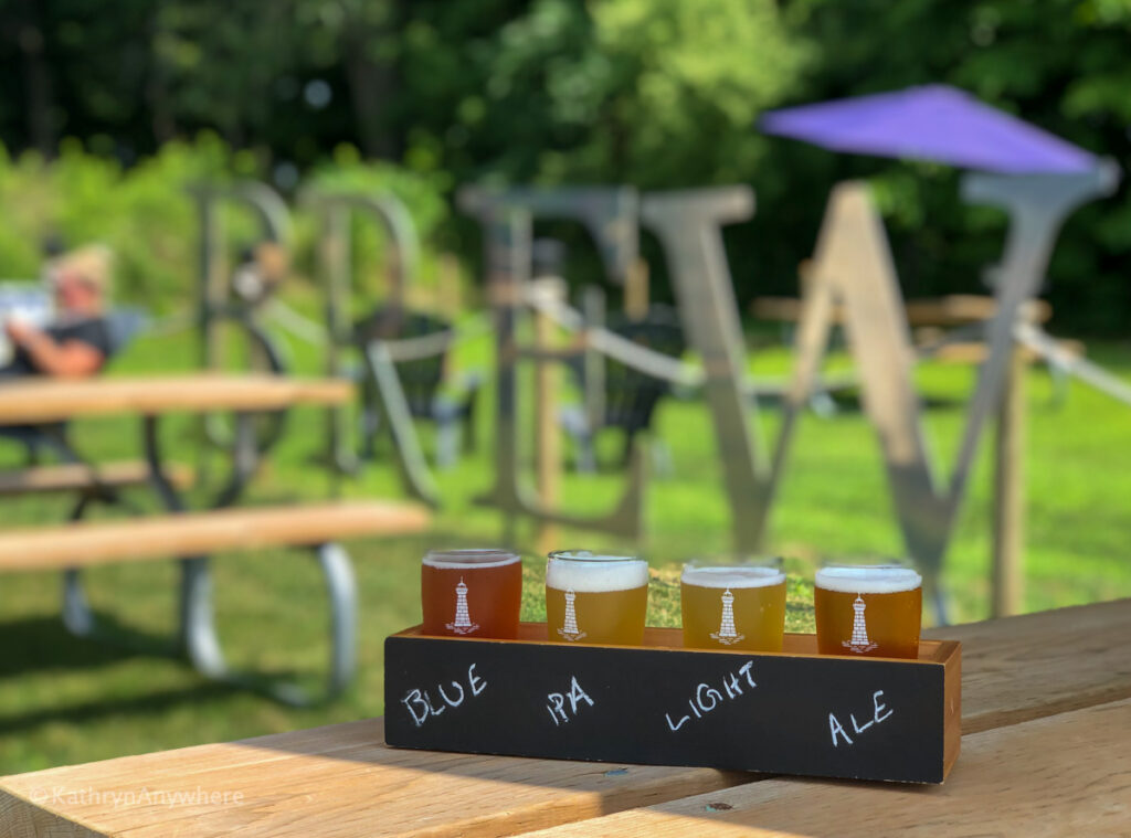 Hometown Brew tasting flight at Long Point Eco-Adventures