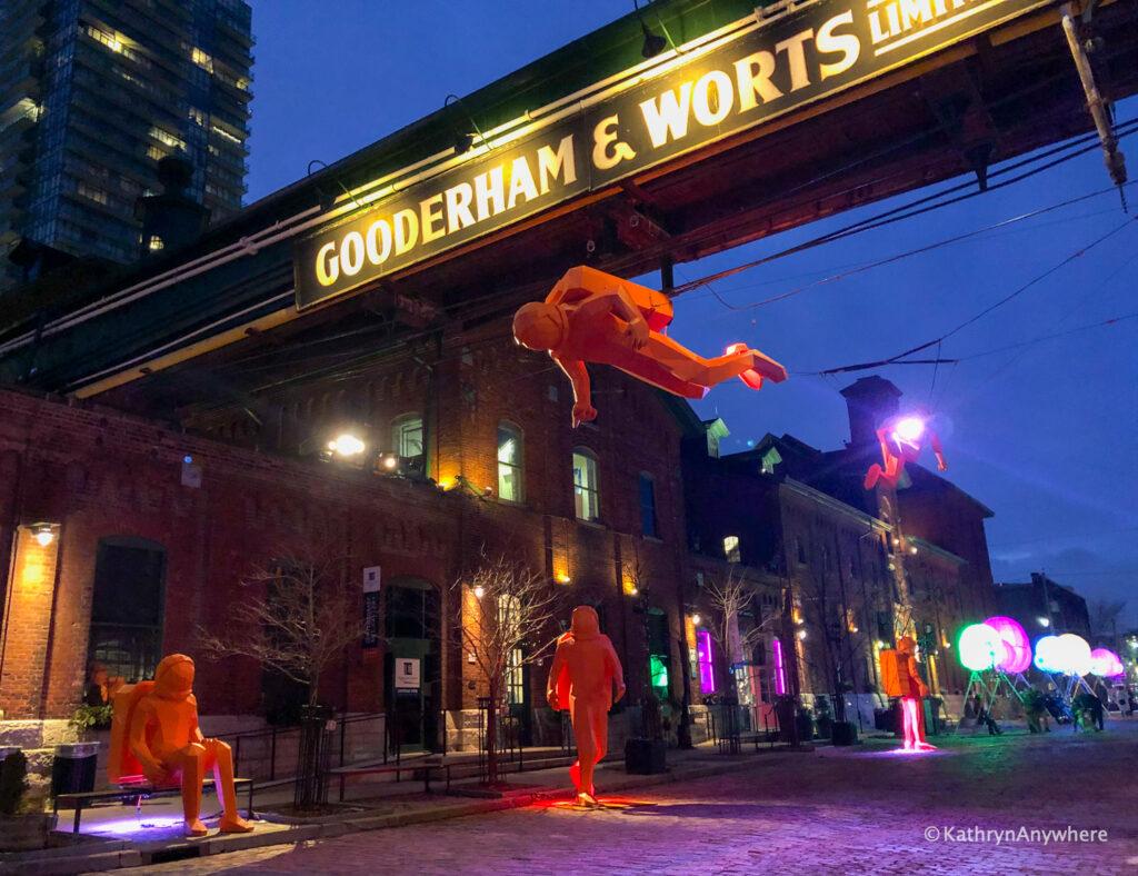 Distillery district of Toronto Art Installation