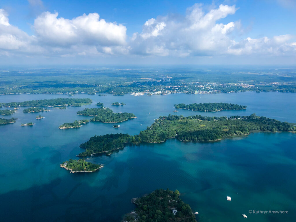 Stunning 1000 Islands from helicopter