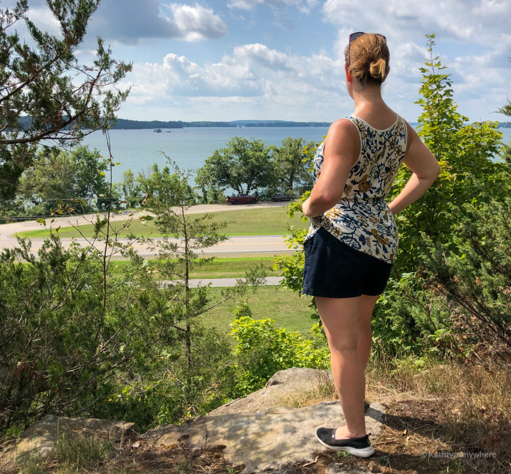 hiking in Landon Bay 1000 islands