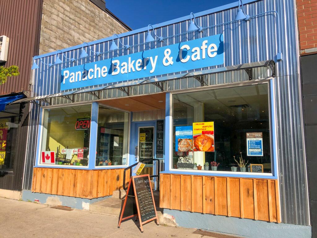 exterior of Panache Bakery & Café at 162 King Street East, Gananoque