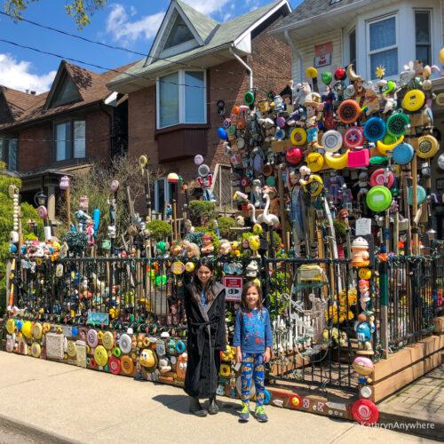 exterior of Toronto Creepy Doll House in Leslieville, 35 Bertmount Ave, Toronto, ON M4M 2X8