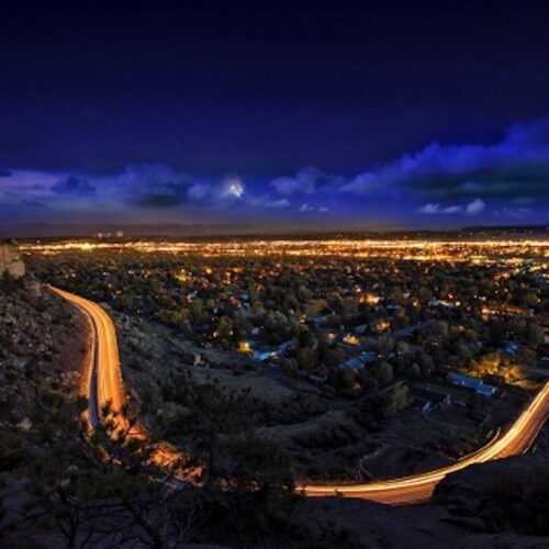 Nightscape of Billings, Montana from the Rimrock, Not my photo, this is a media photo from Visit Billings.