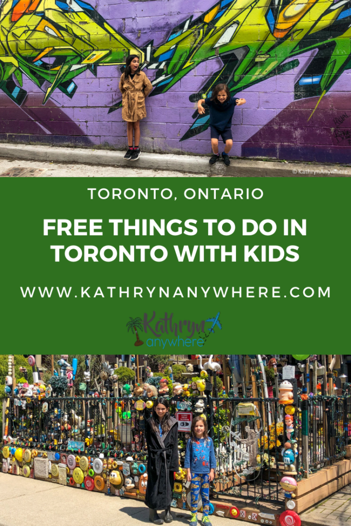 From the interesting to the strange, unusual and seemingly normal, here are some of my favourite free things to see in Toronto, Ontario with kids in all seasons #CREEPYDOLLHOUSE #CHOLERACEMETERY #GRAFFITIALLEY #DISTILLERYDISTRICT #ARTINSTALLATIONS