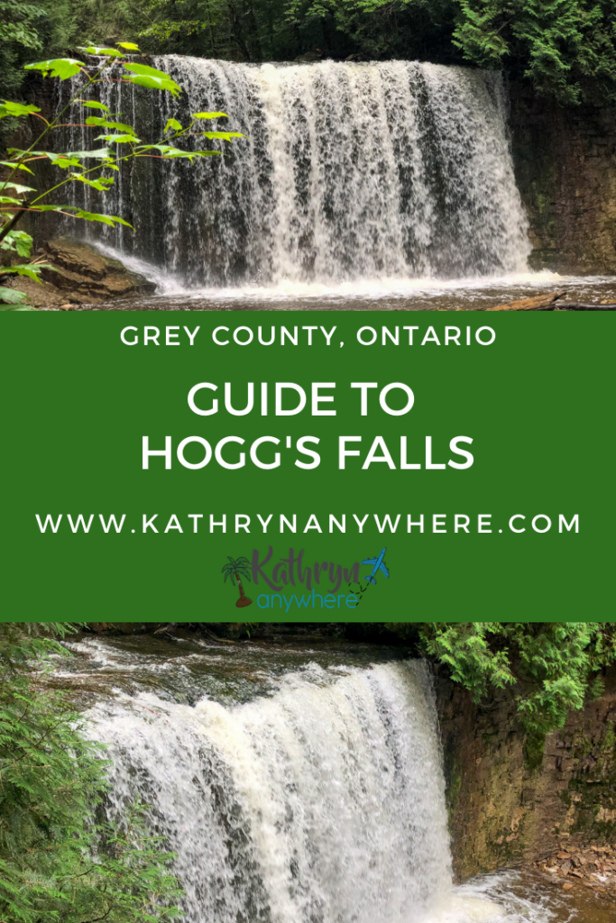 Guide to Hogg's Falls, hiking and viewing the waterfalls in Beaver Valley in Grey County, Ontario