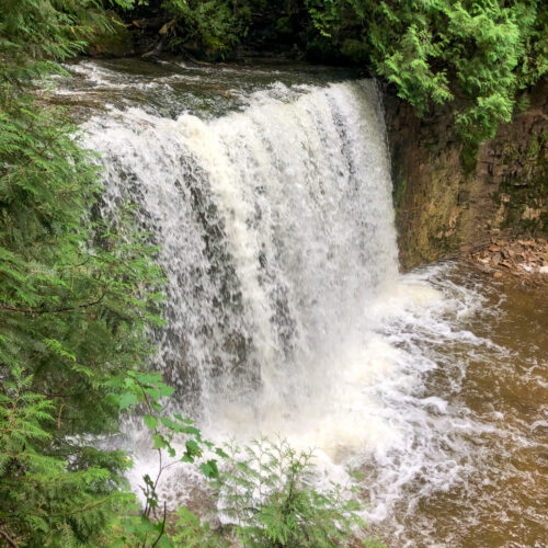 Hoggs Falls, just outside of Flesherton, Ontario in Grey County