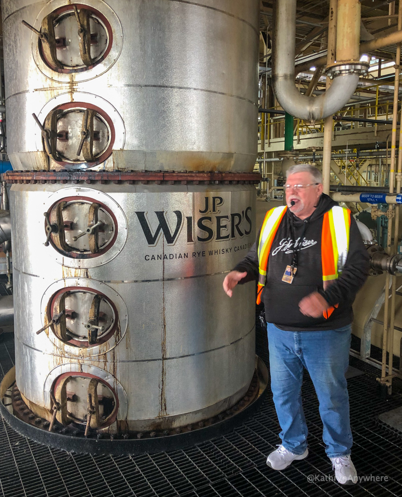J.P. Wiser's Hiram Walker Whisky tour - Canadian Rye Whisky tour guide