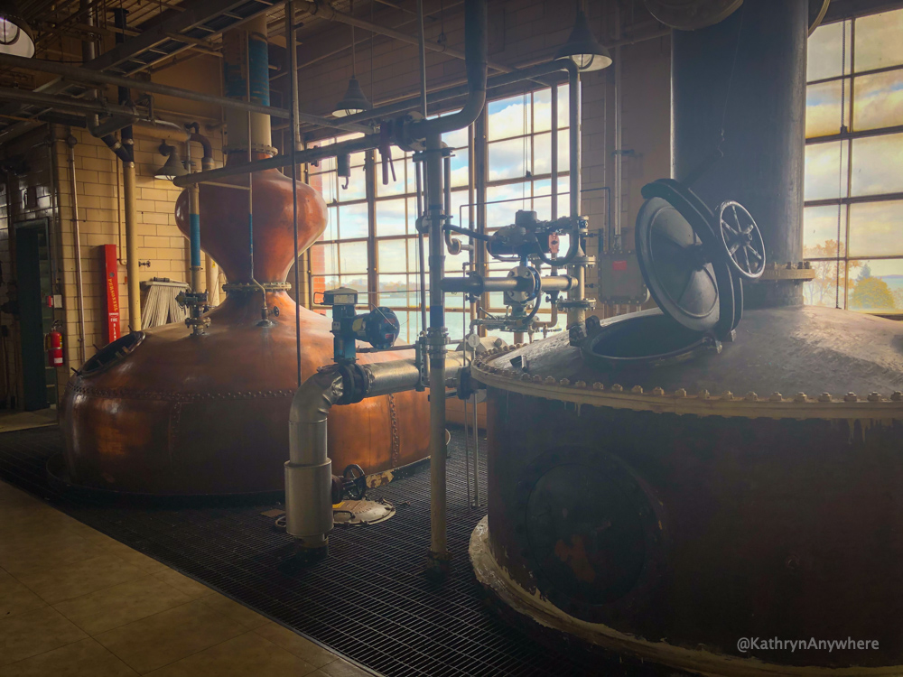 J.P. Wiser's Copper Stills in Hiram Walker Distillery
