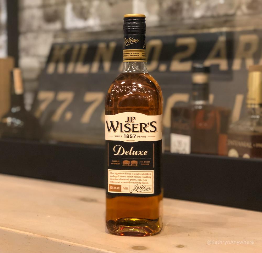 J.P. Wiser's Deluxe Canadian whisky bottle