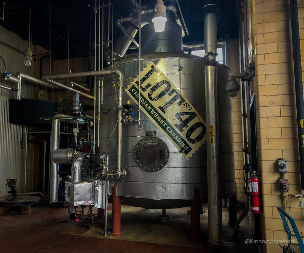 J.P. Wiser's Lot 40 Canadian Whisky distill fermentation