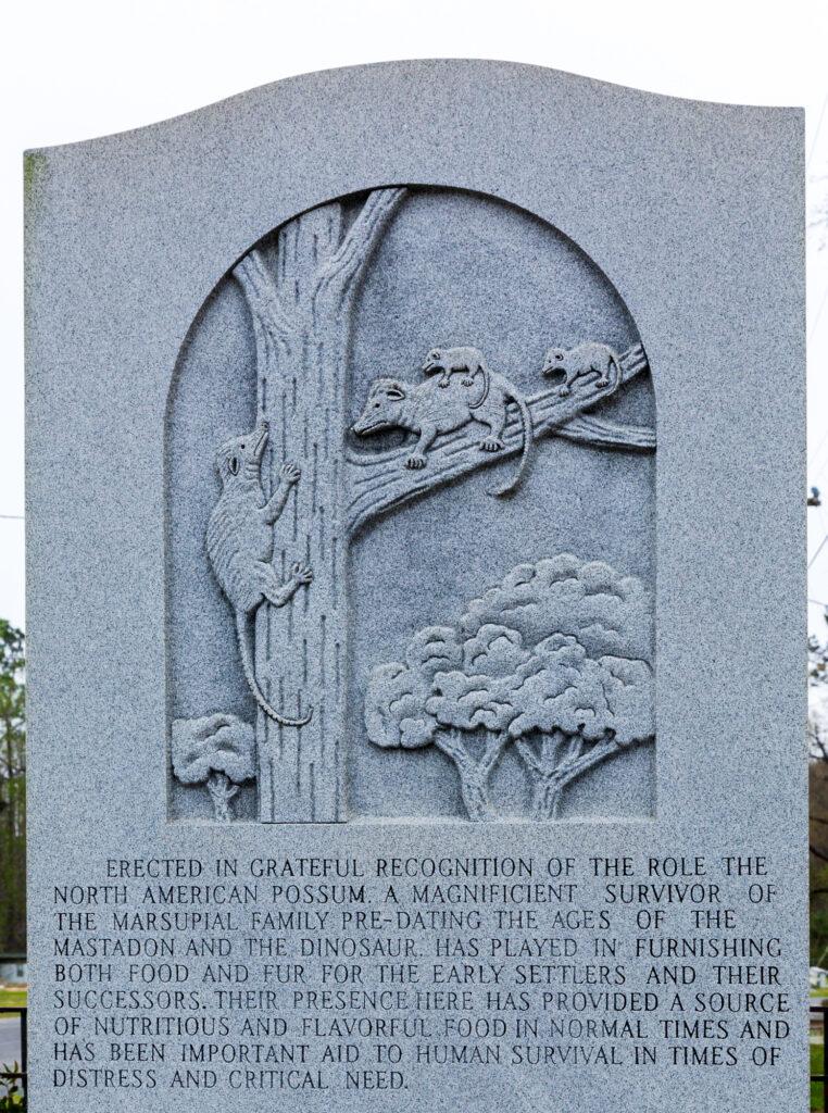 Possum Monument, Florida